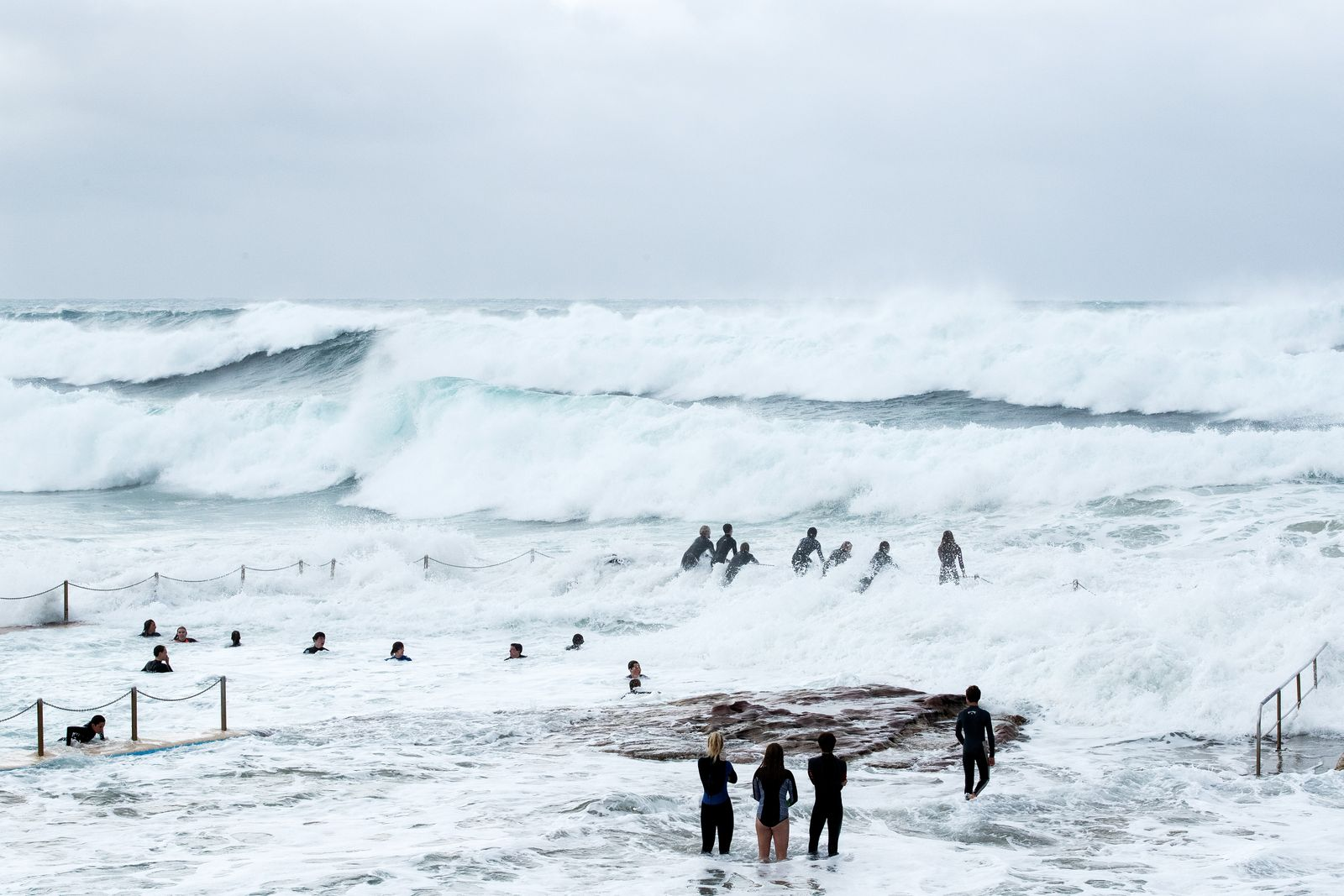 Wild Surf Conditions At Sydney Beaches