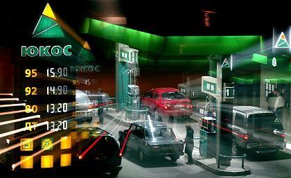 Jukos-Tankstelle in Moskau: Ziehen die Deutschen nun die Finanzierung zurück?