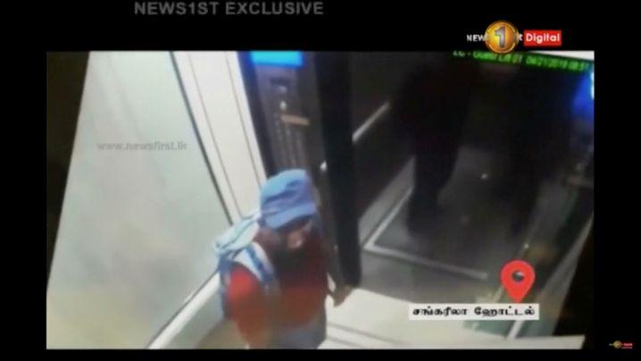 Bild des mutmaßlichen Selbstmordattentäters im Shangri-La-Hotel, Colombo, am Ostersonntag
