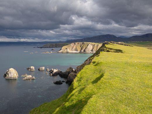 Abendlicht am Faraid Head an der Nordküste Schottlands
