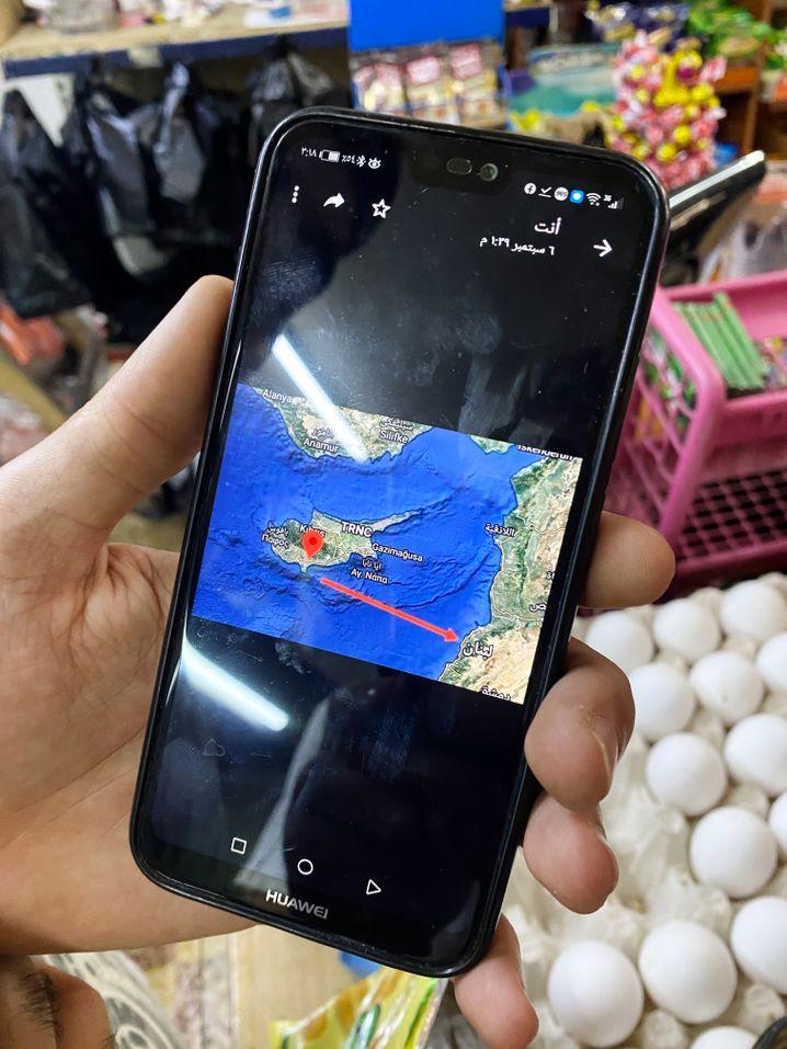 Kein weiter Weg: Zypern liegt etwa 160 Kilometer (100 Seemeilen) von der libanesischen Küste entfernt