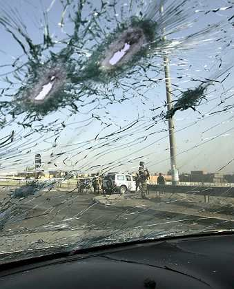 Violence in Iraq continues as many fear a coming civil war. Here, the aftermath of a March 2 attack on Sunni political leader Adnan al-Dulaimi in Baghdad.