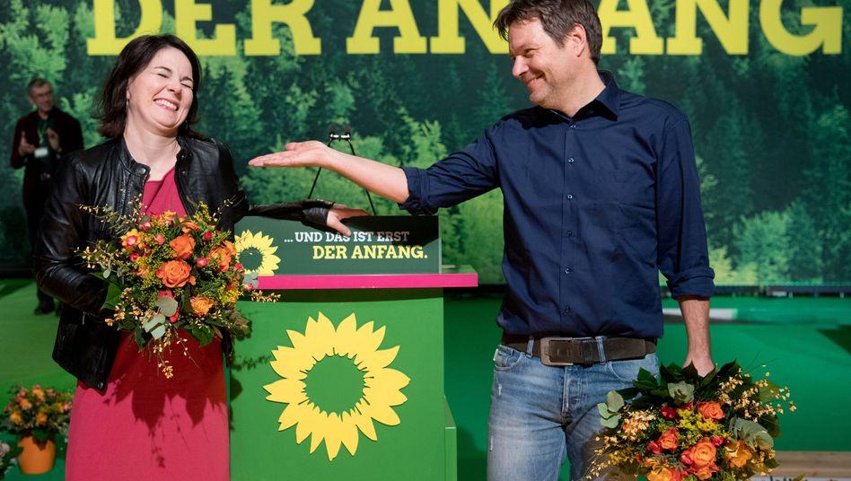 Wer hat denn Angst vor denen? Die Bundesvorsitzenden der Grünen Robert Habeck und Annalena Baerbock