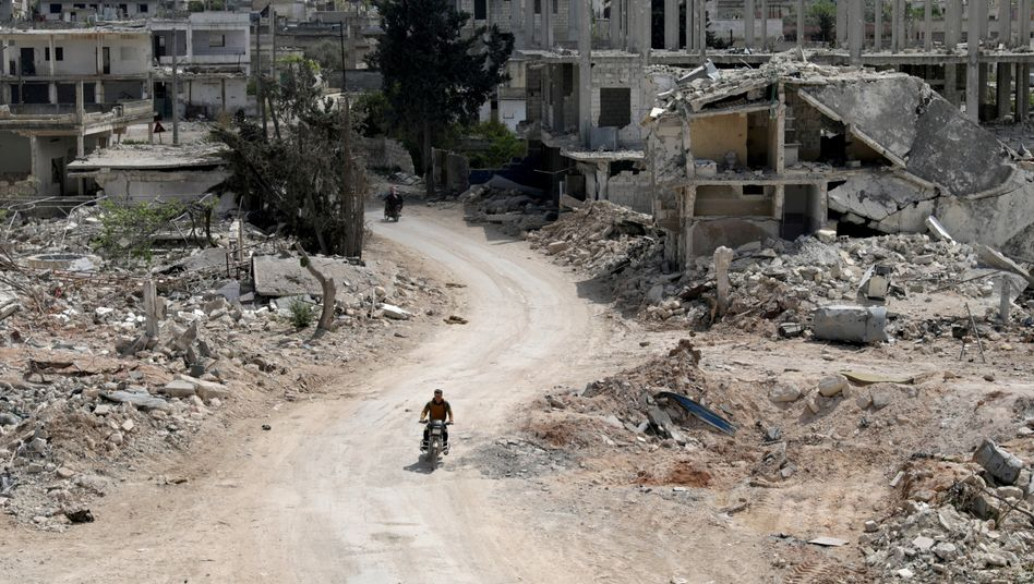Zerstörte Häuser im syrischen Nairab (Foto aus dem April)