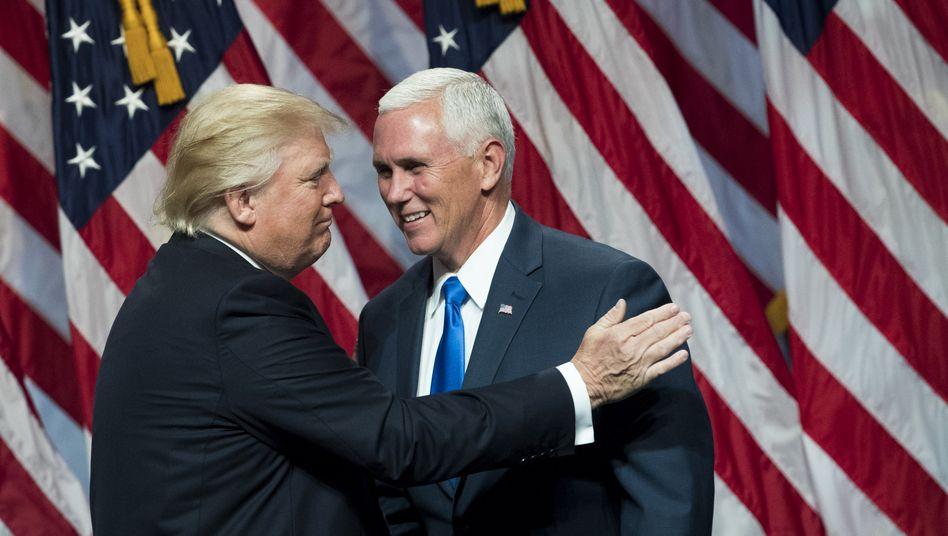 Da waren sie noch Freunde: Mike Pence und Donald Trump im Wahlkampf 2016