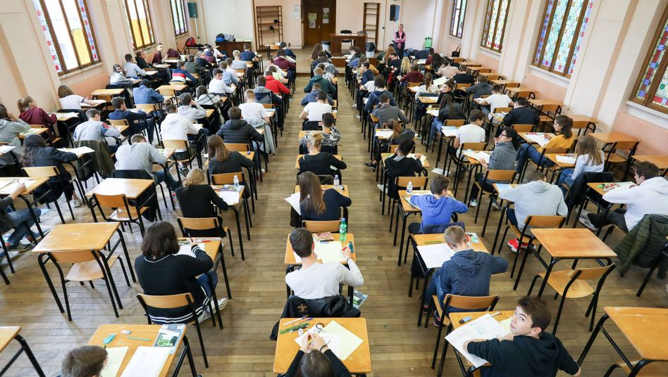 Schüler während der Prüfung