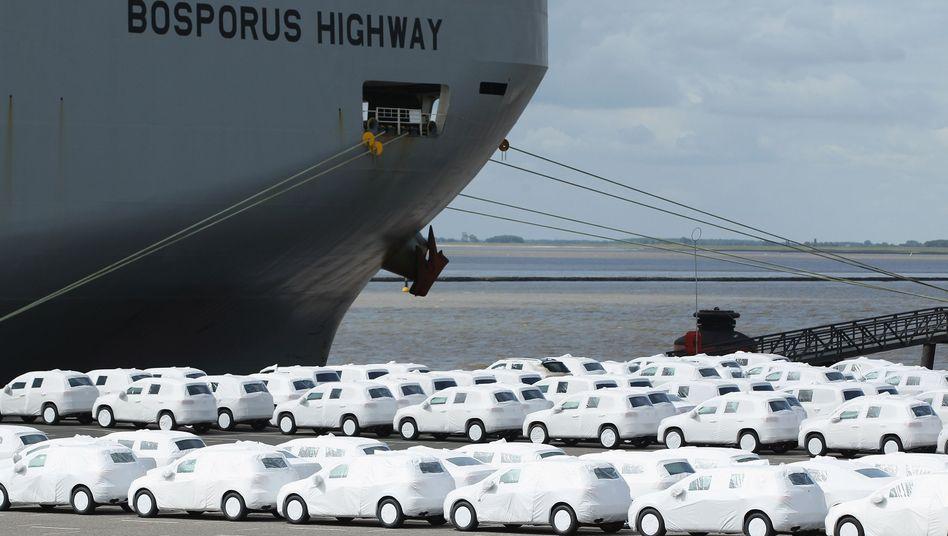 Exporthafen Emden: Deutscher Handelsüberschuss ist auf Rekordniveau