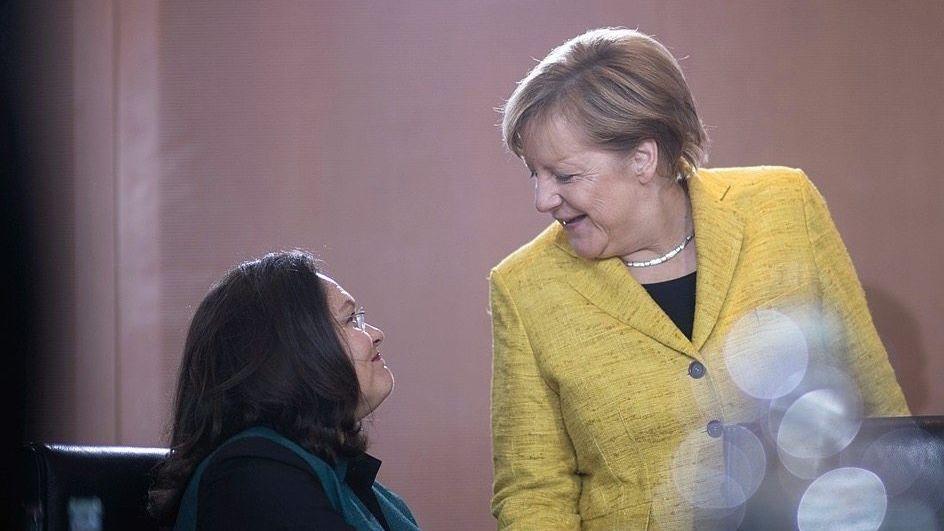 Bündnispartnerinnen Nahles, Merkel