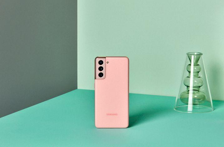 Das Galaxy S21 in Pink