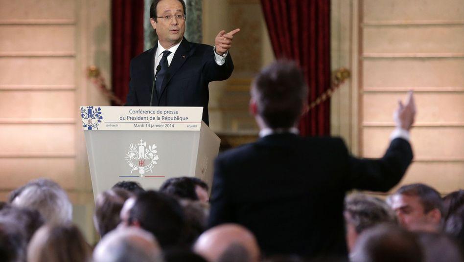 Pressekonferenz des Präsidenten: Hollandes pikanter Moment der Wahrheit