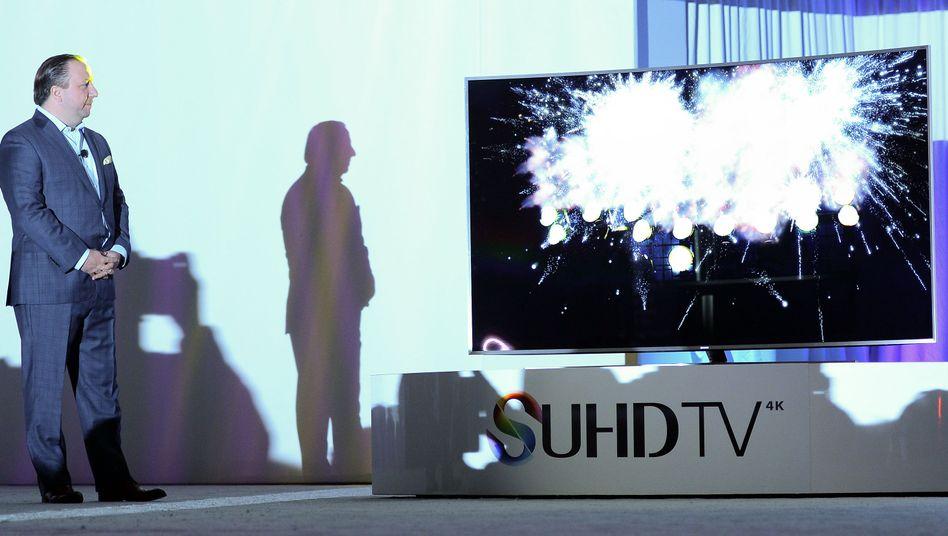 Vorstellung eines Samsung-TV auf der CES in Las Vegas: Der Fernseher hört mir