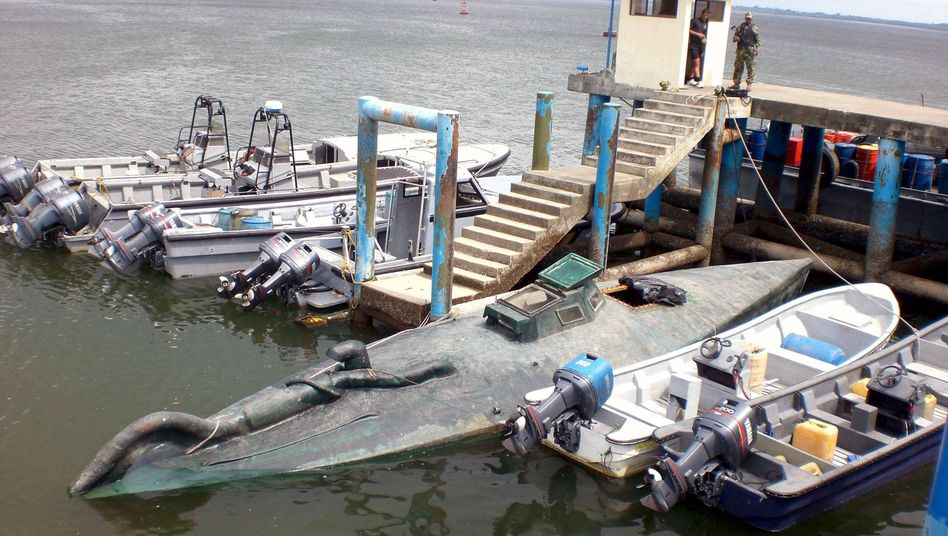 Beschlagnahmtes U-Boot: Rauschgift soll für Mittelamerika bestimmt gewesen sein