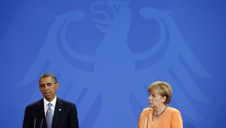 Obama, Merkel in Berlin: Streitthema Datenschutz