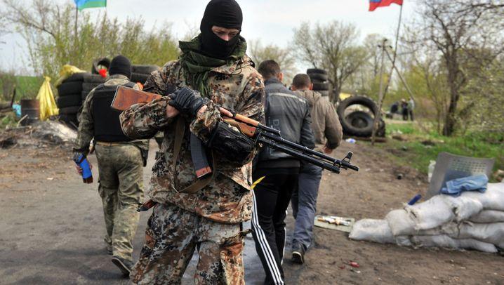 Angriff in der Ostukraine: Schießerei bei Slowjansk