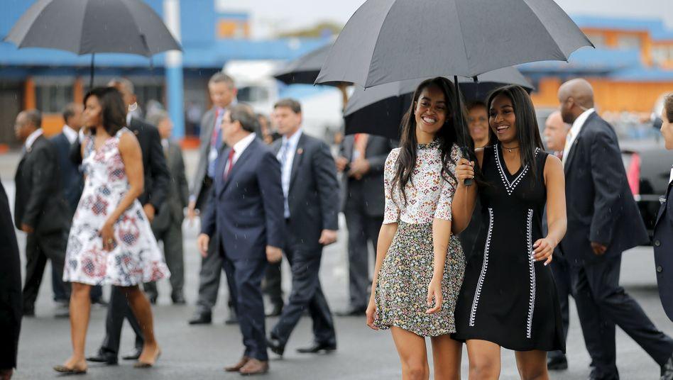 Malia und Sasha Obama in Havanna 2016: »Großartige Freundinnen«