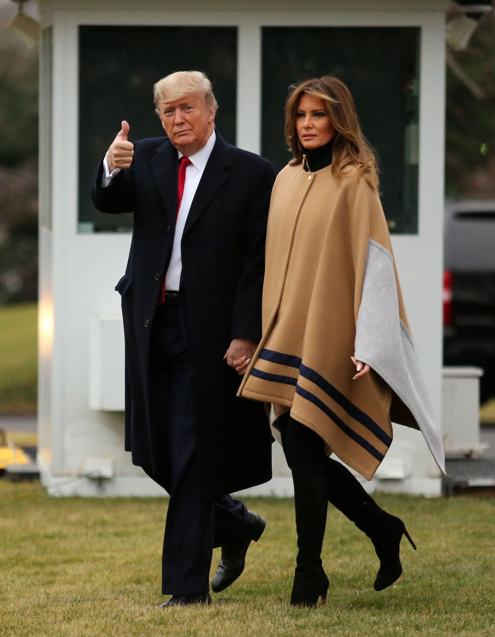 Donald and Melania Trump depart the White House, Washington, USA - 31 Jan 2020
