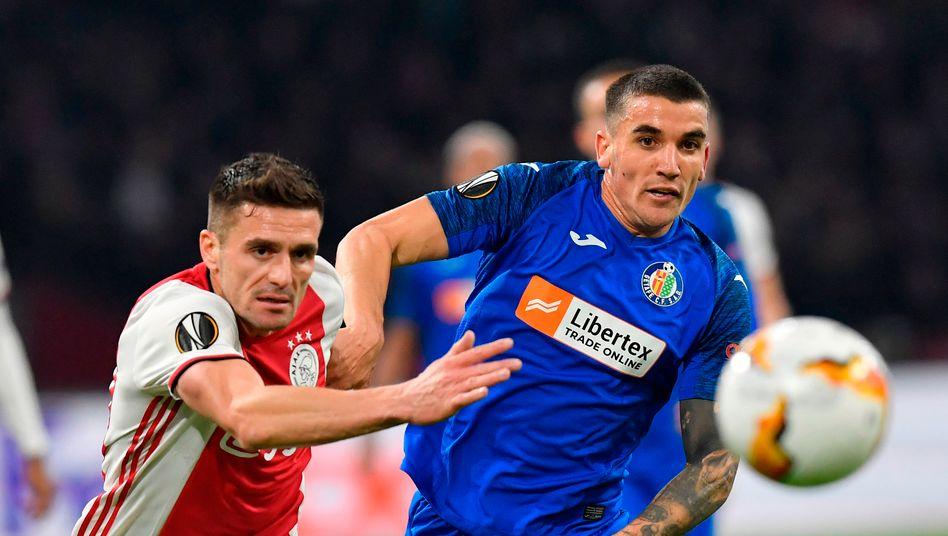 In der Zwischenrunde setzte sich der FC Getafe gegen den holländischen Meister Ajax Amsterdam durch