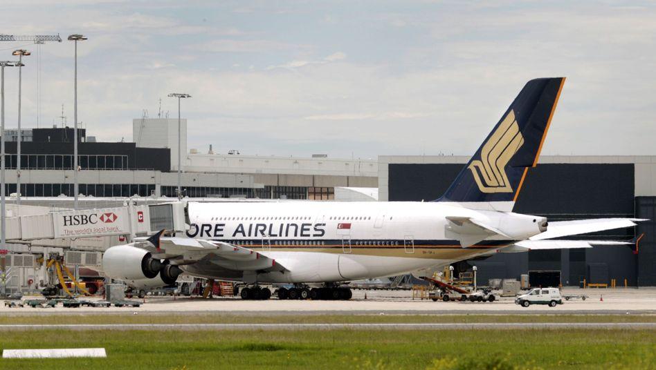 A380 der Singapore Airlines: Drei Maschinen der Flotte bleiben am Boden