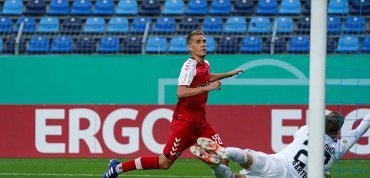 DFB-Pokal: SC Freiburg zittert sich bei Waldhof Mannheim in die zweite Runde