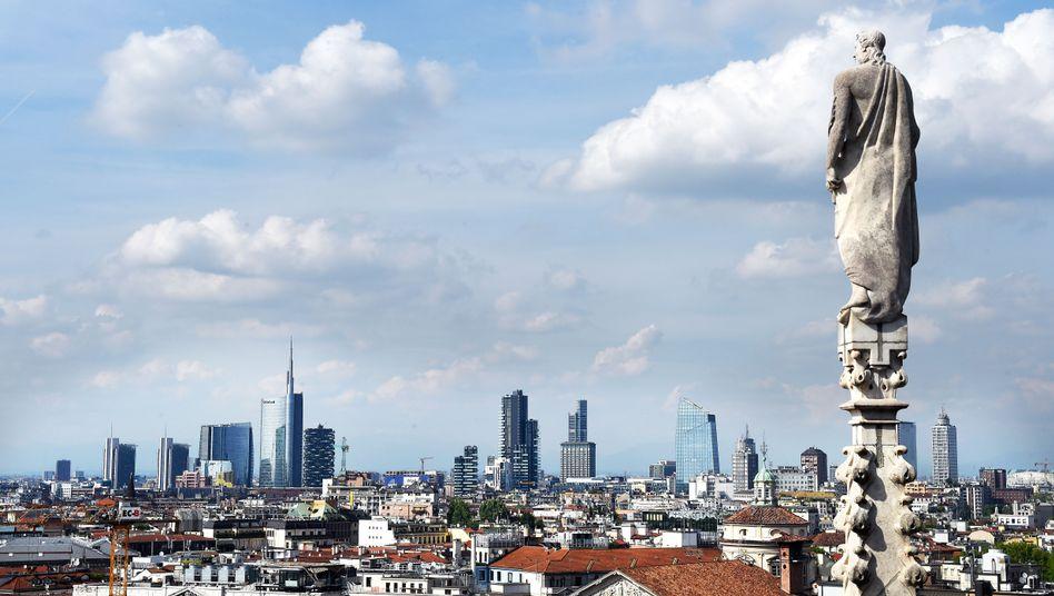 Italienische Bankenstadt Mailand