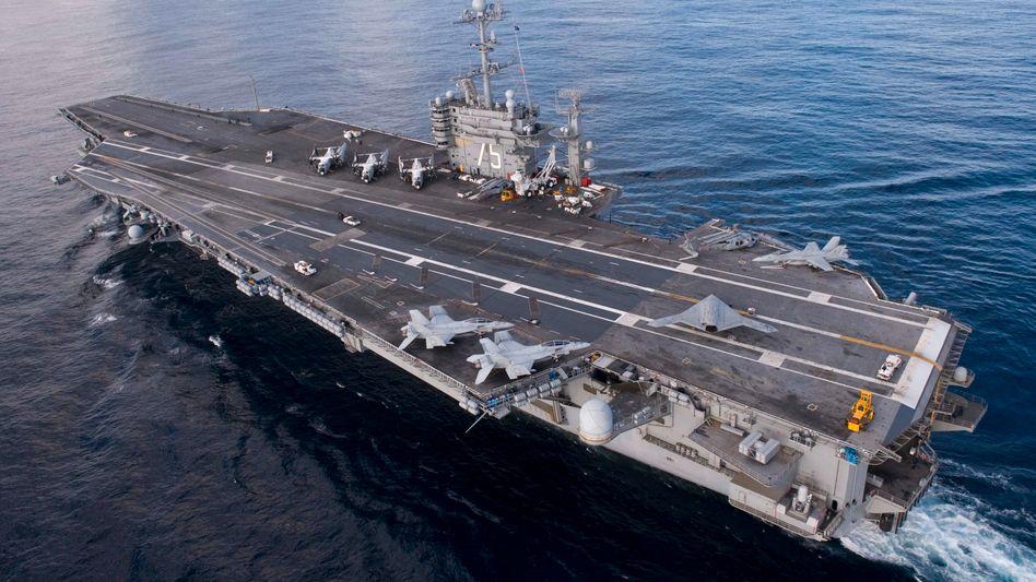 US-Flugzeugträger: Kurze Vorwarnzeit von 23 Minuten