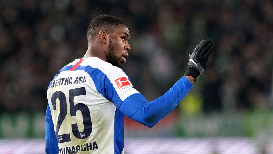 Herthas Jordan Torunarigha beim Spiel in Wolfsburg