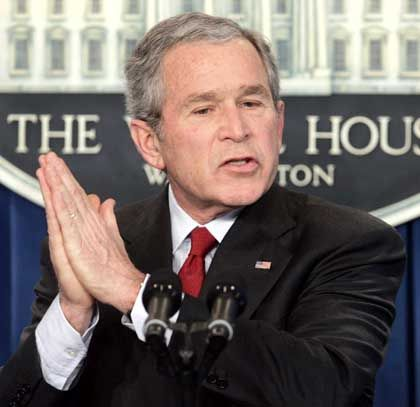 """US-Präsident George W. Bush: """"Niemand mag Krieg"""""""