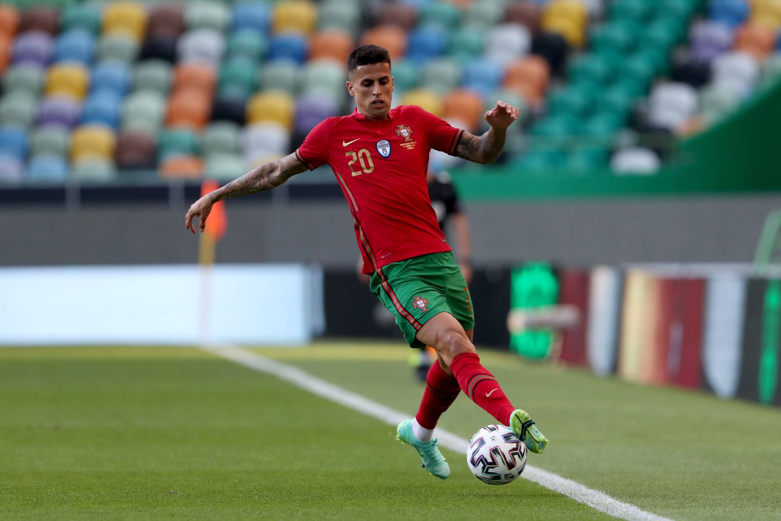 June 9, 2021, Lisbon, Portugal: Joao Cancelo of Portugal in action during the International Friendly, Länderspiel, Natio