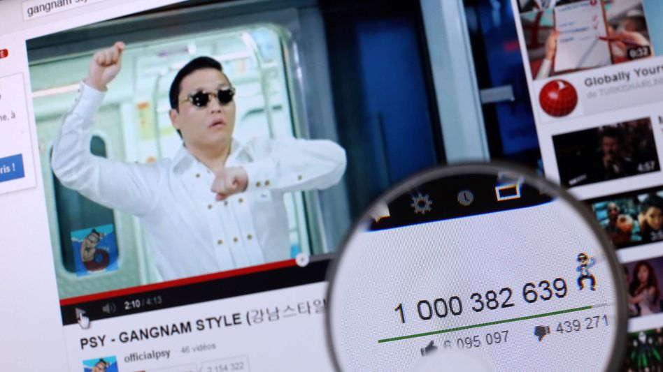 Rapper Psy knackt die Milliardenmarke: Video des Musikers bei YouTube