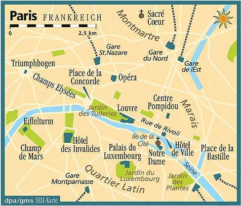 Paris: Abseits der großen Boulevards gibt es viele stille Hinterhöfe und alte Ladenpassagen zu entdecken