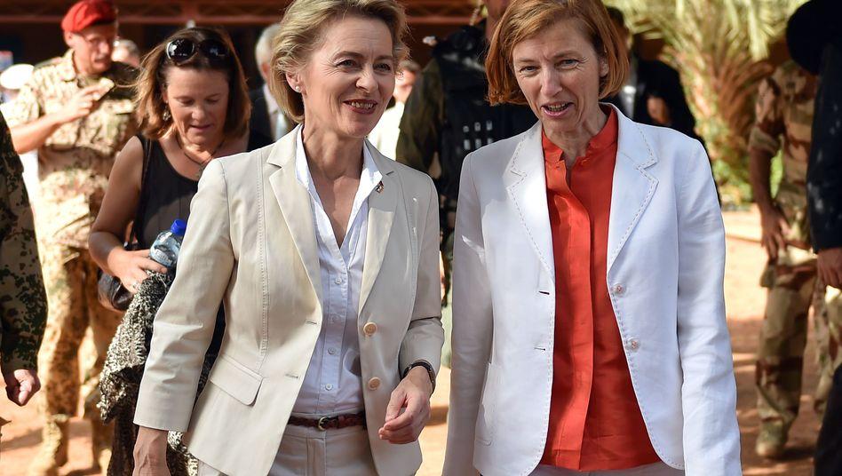 Verteidigungsministerin Ursula von der Leyen, französische Amtskollegin Florence Parly