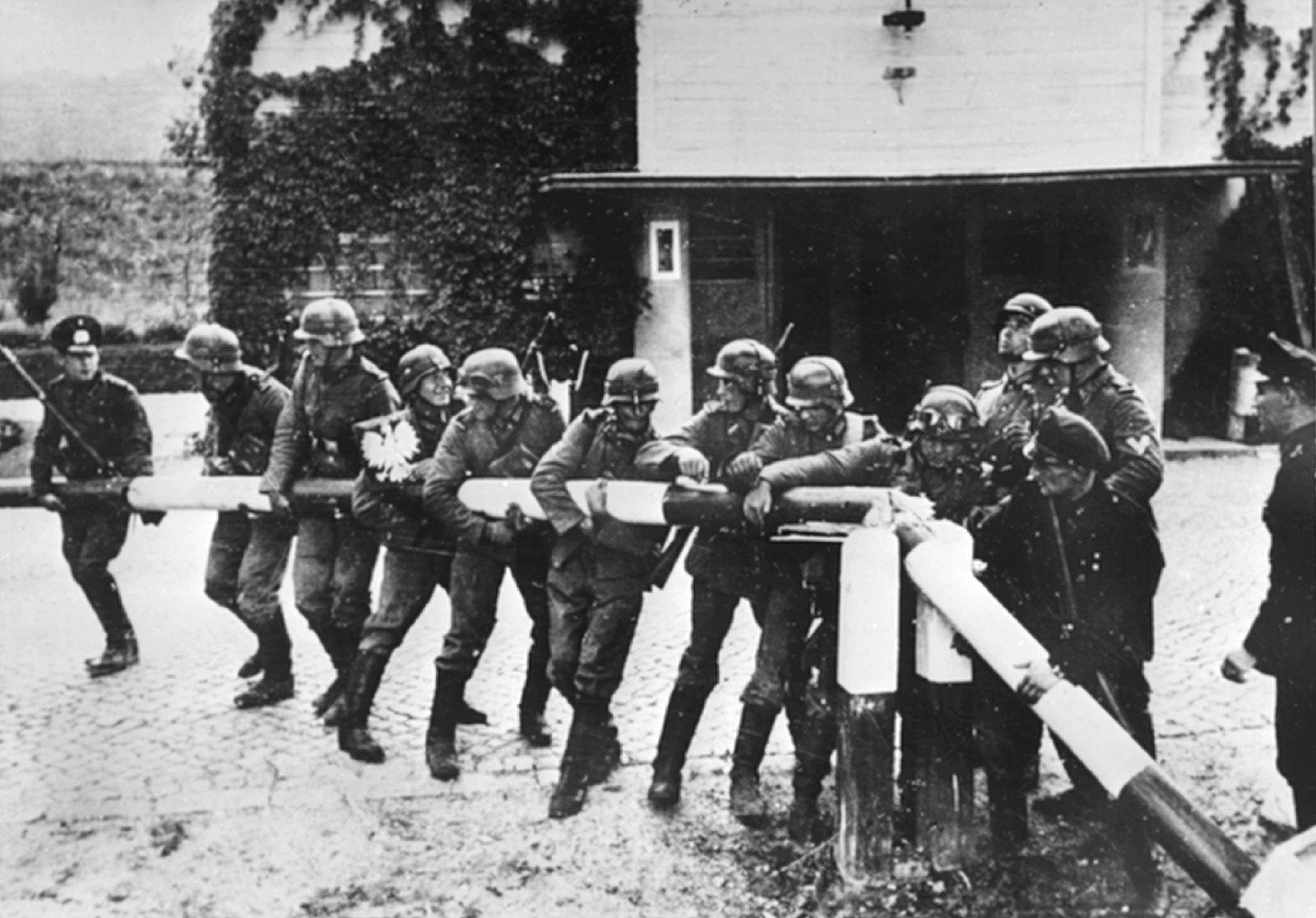 Ausbruch des Zweiten Weltkriegs / Schlagbaum