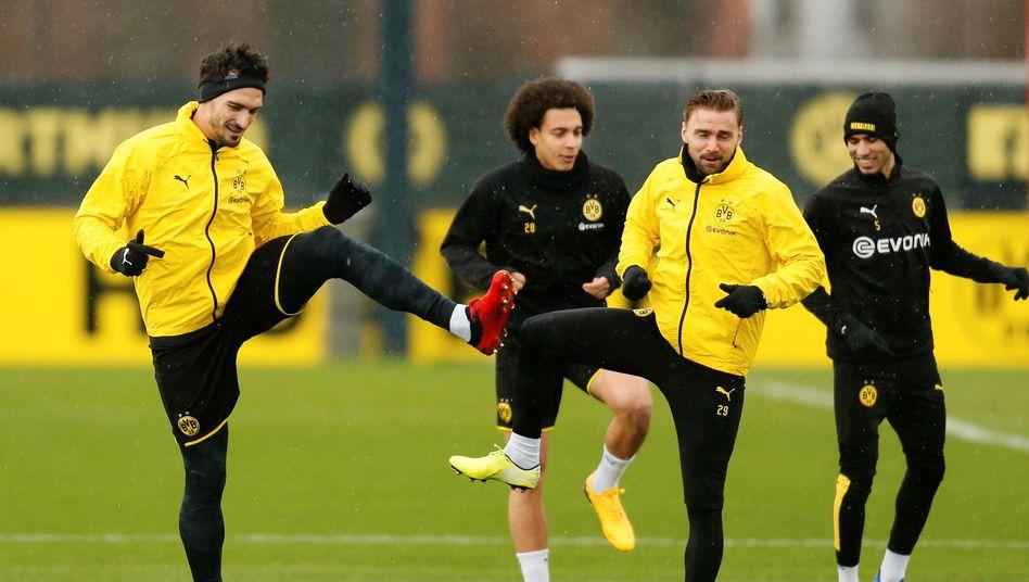 Profis von Borussia Dortmund im Training - bevor die Spieler in Homeoffice geschickt wurden