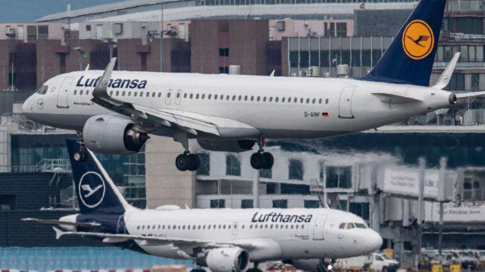 Lufthansa-Maschinen in Frankfurt