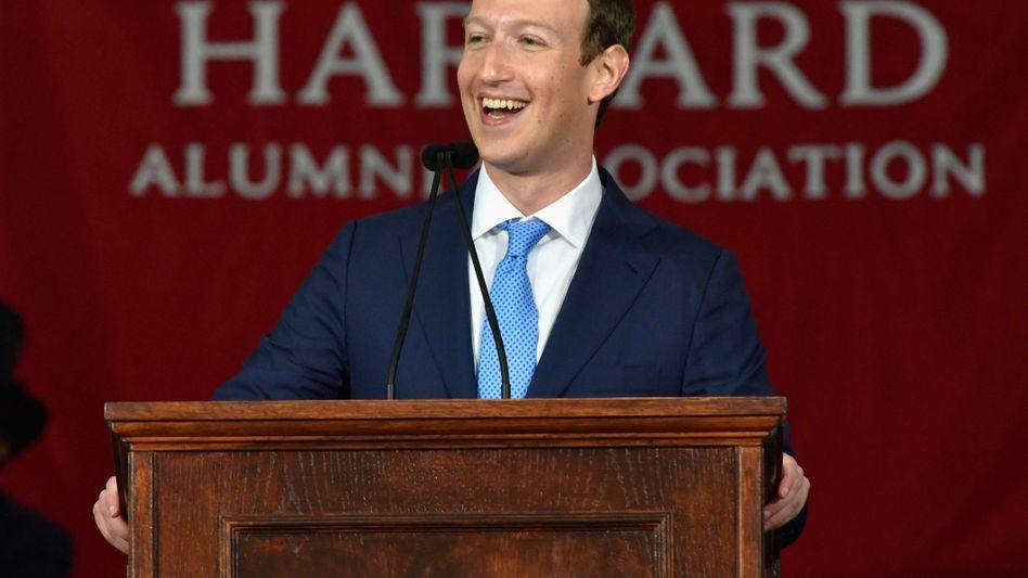 Zuckerberg in Harvard