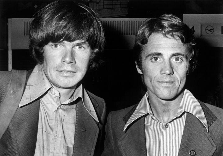Reinhold Messner (links) und Peter Habeler im Jahr 1975