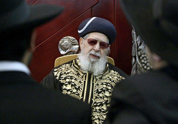 Schas-Partei-Rabbi Ovadia Josef: Mächtiger Strippenzieher in der israelischen Politik