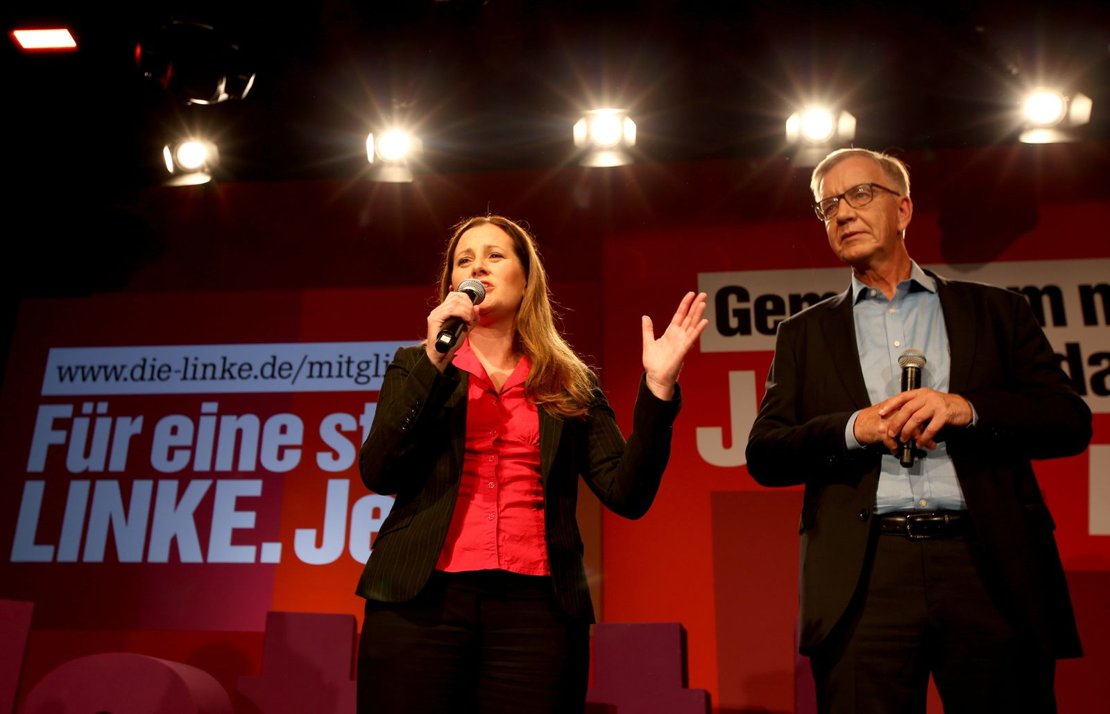 Left-wing Linke party reactions after general elections