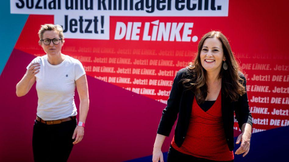Die Parteivorsitzenden Susanne Hennig-Wellsow und Janine Wissler