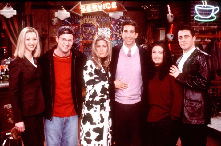 """Die """"Freunde"""" in den Neunzigern: Lisa Kudrow, Matthew Perry, Jennifer Aniston, David Schwimmer, Courteney Cox Arquette und Matt LeBlanc (v.l.n.r.)"""
