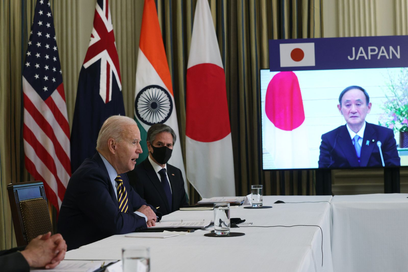 President Biden Meets Virtually With Leaders Of Quad Nations