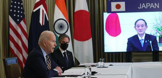 USA und Japan gegen China: Joe Biden trifft Yoshihide Suga