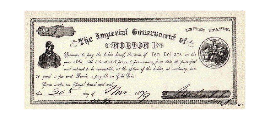 Десятидоллароая банкнота Нортона I