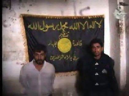 Standbild aus der Videoaufzeichnung: Grausame Warnung an alle Iraker