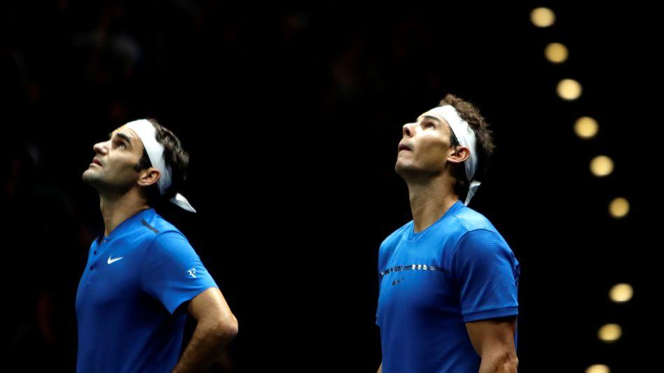 """Mitorganisator Roger Federer (l.): """"Es ist schade, dass der Laver Cup verlegt werden muss, aber zum jetzigen Zeitpunkt ist es die richtige Entscheidung"""""""