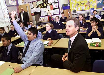 Schüler in England: Trotz Tony Blair keinen Bock