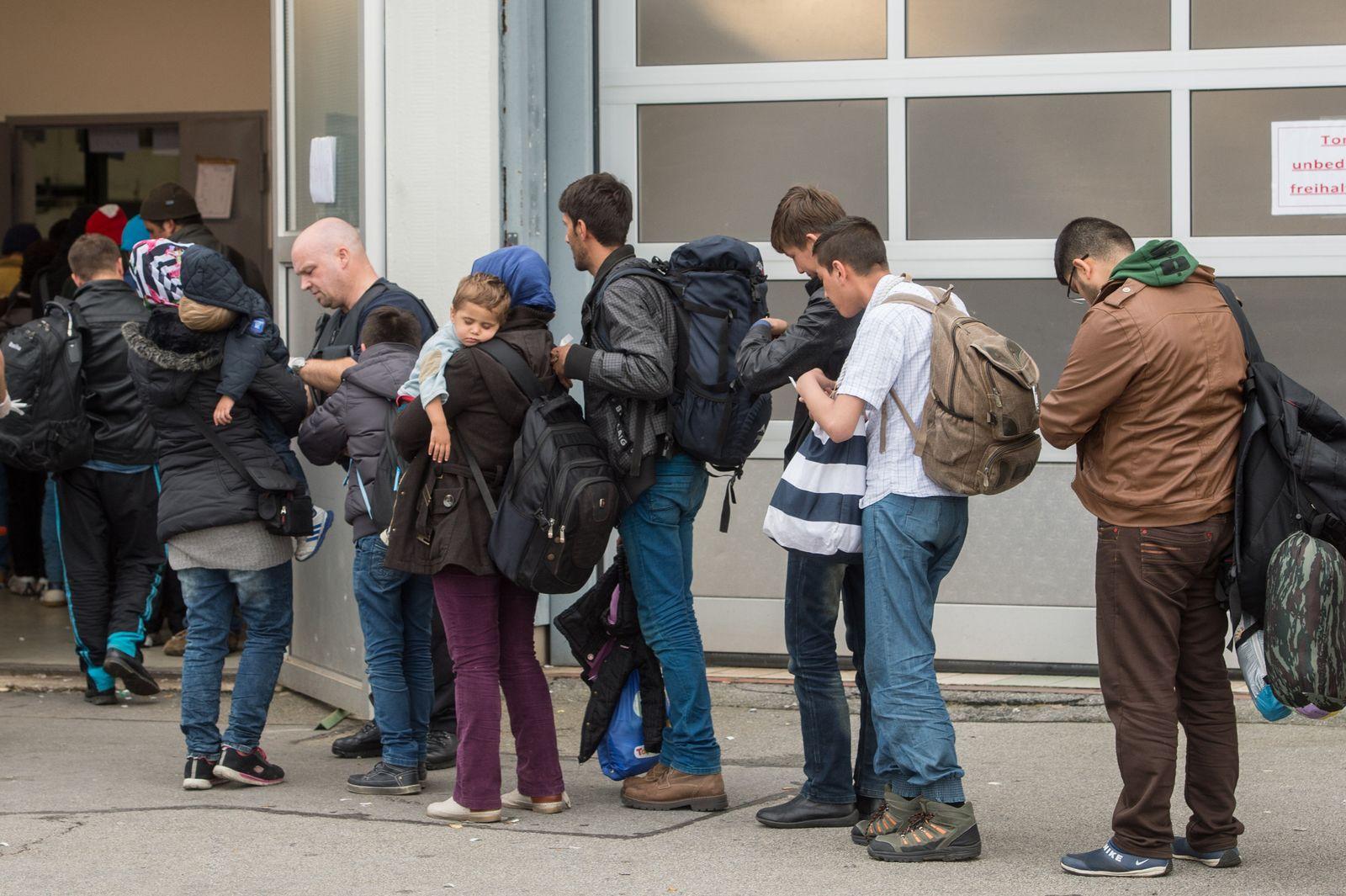 Erstregistrierungsstelle für Flüchtlinge in Passau