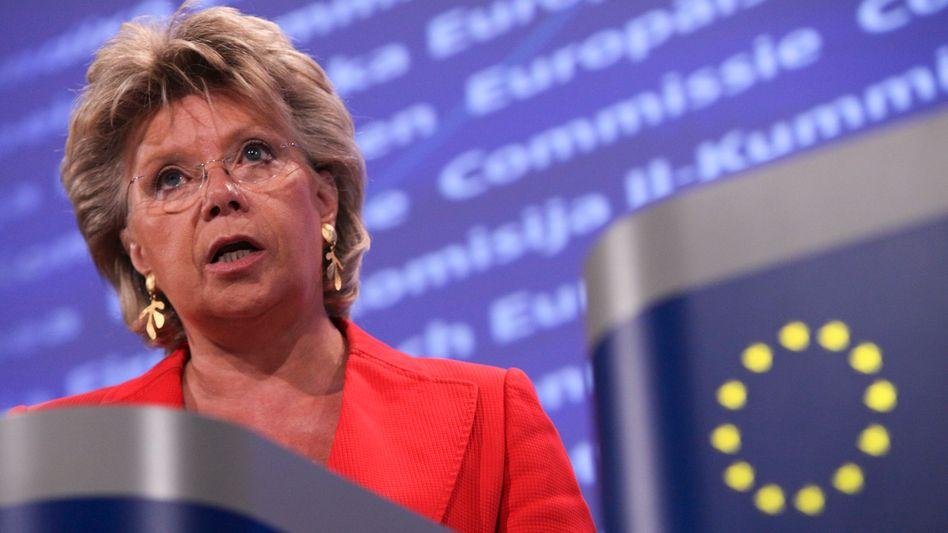 "EU-Kommissarin Reding: ""Europa darf sich den Euro nicht kaputt machen lassen"""