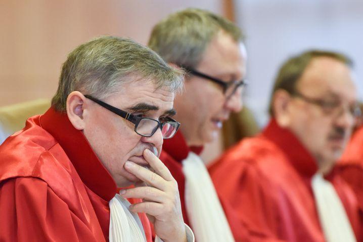 Der Zweite Senat des Bundesverfassungsgerichts, Peter Müller, Andreas Voßkuhle, Herbert Landau