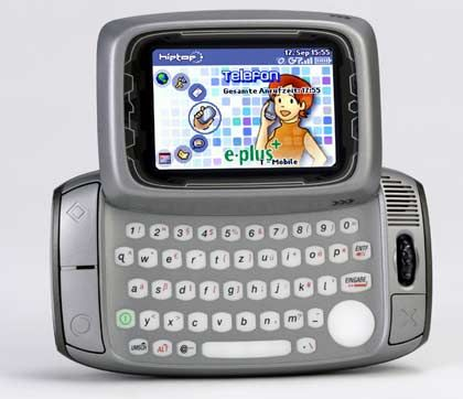E-Mail-Maschine ohne Blackberry-Technik Der Danger Hiptop ähnelt auf den ersten Blick eher einem Gameboy als einem Handcomputer. Doch er bietet einen mobilen E-Mail-Client mit Push-Funktion und einen integrierten AOL Instant Messanger, um unterwegs zu chatten. Den Vertrieb in Deutschland nimmt E-Plus vor.